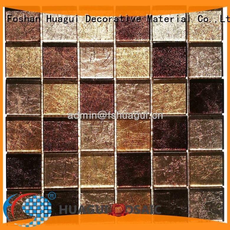 Huagui mixed grey glass mosaic tile manufacturers for outdoor