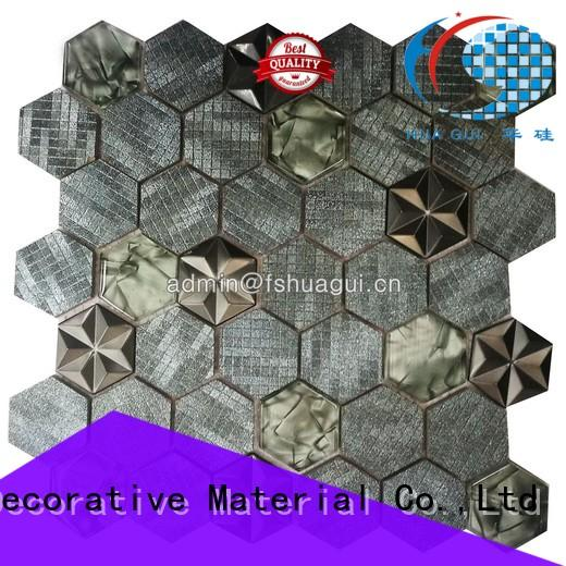 Huagui Brand 3d metallic bathroom tiles glass supplier