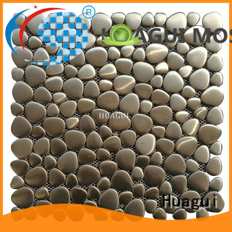 Huagui brown and silver metal mosaic with modern styles for outdoor