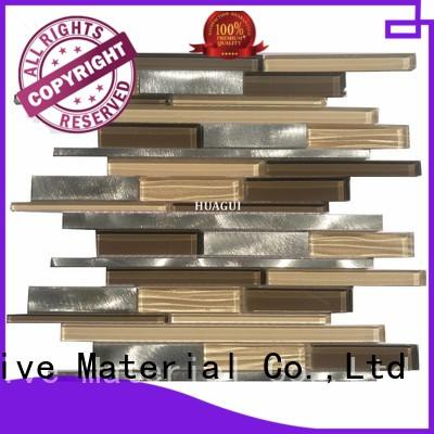 Huagui metal metal mosaic tile supply for indoor