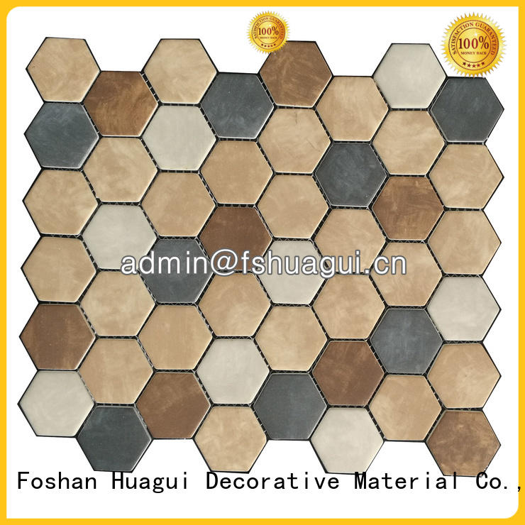 Huagui particle porcelain hexagon tile for sale for outdoor