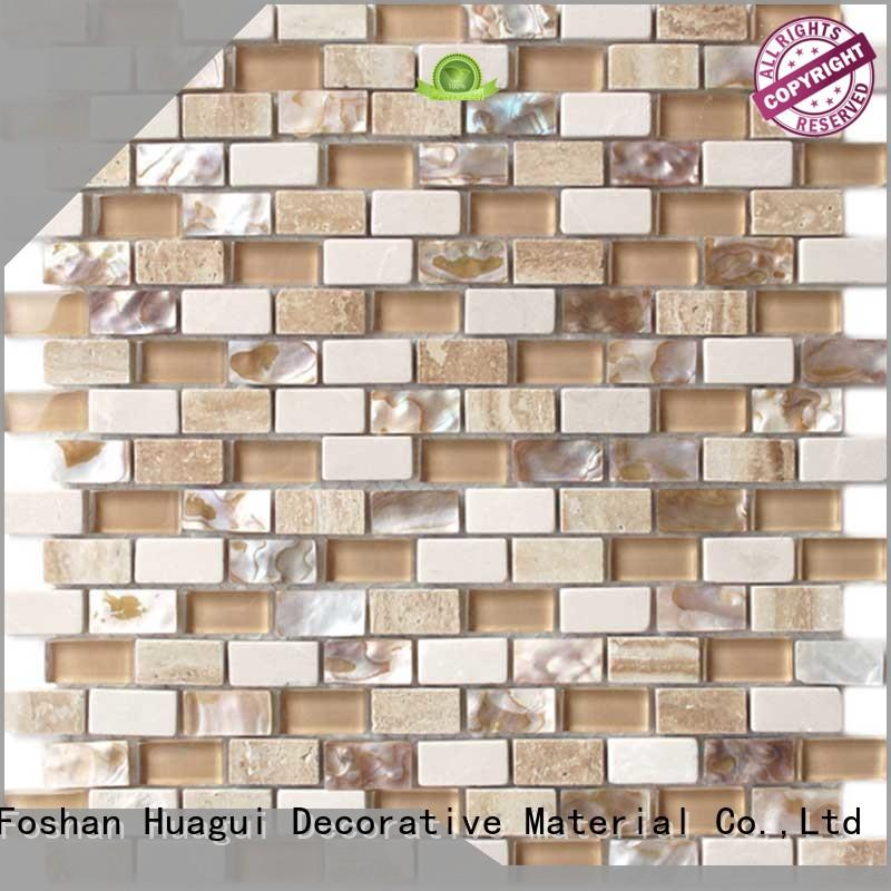 Huagui on mother of pearl mosaic wall tiles suppliers for floor