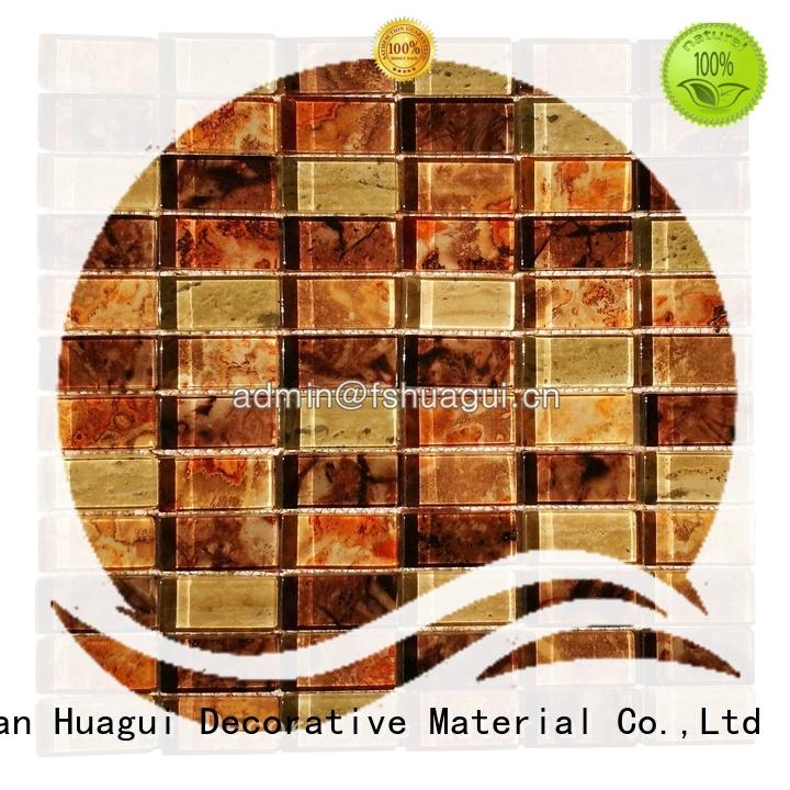 Huagui buy mirror mosaic tiles factory for wall