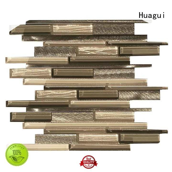 Huagui mixed glass metal mosaic tile manufacturers for home