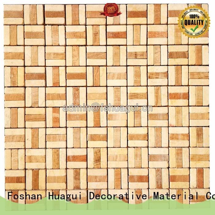 Huagui pattern glass stone mosaic tile backsplash suppliers for outdoor