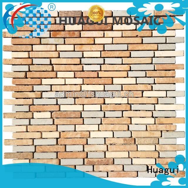 Huagui white exterior stone tile manufacturers for kitchen