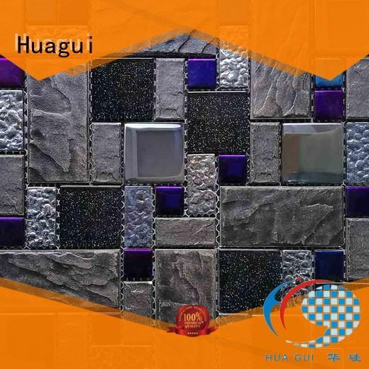 Huagui Brand best hot selling tile custom black and white ceramic tile