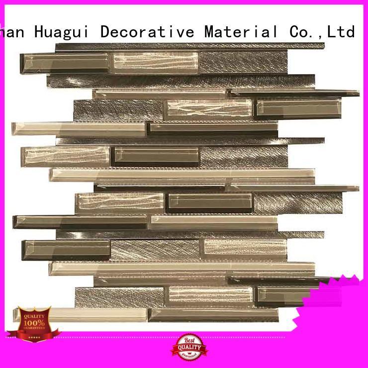 top selling pattern metallic bathroom tiles aluminum Huagui company