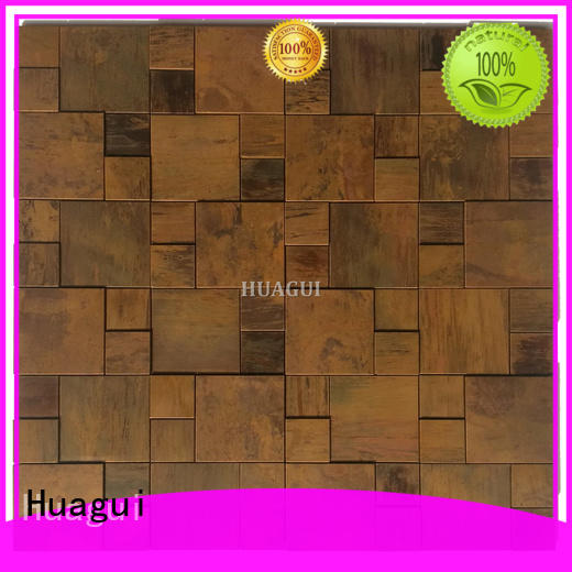 Huagui bronze copper mosaic tile company for home