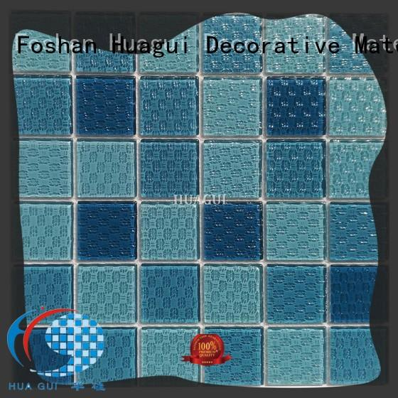 Huagui luminescent glass mosaic tiles for swimming pool for business for floor