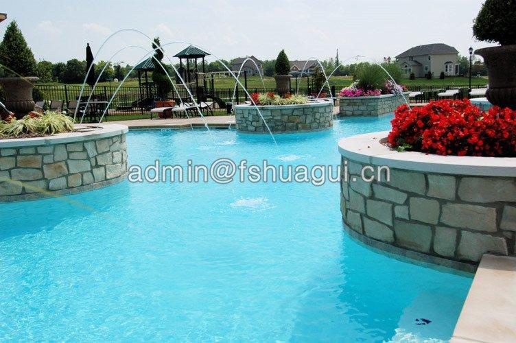 China glass single color mosaic pool tiles HG-448001-1