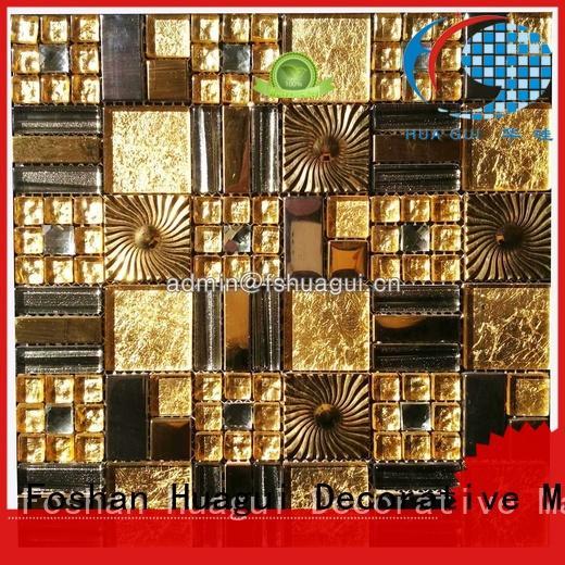 Quality Huagui Brand 3d aluminum copper mosaic tile