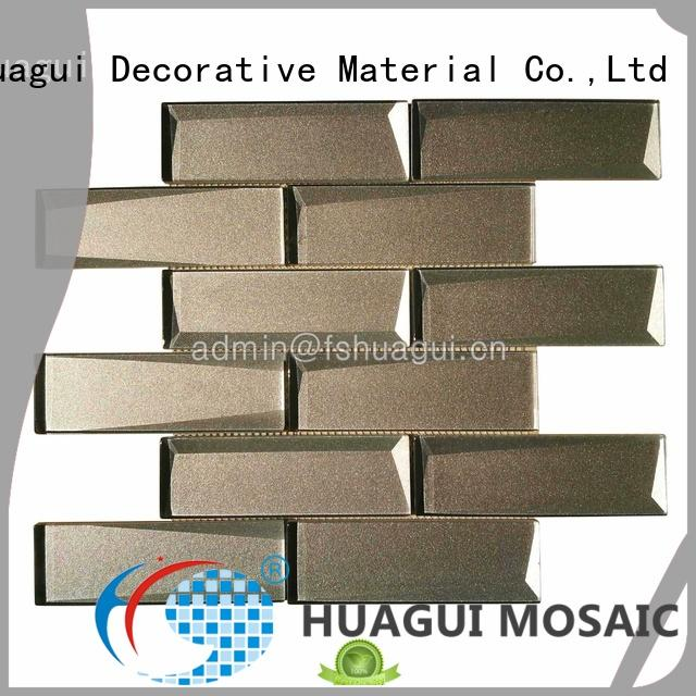 Huagui artistically smoke glass subway tile for business for home