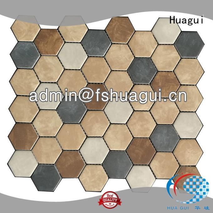 iridescent black and white ceramic tile bathroom Huagui company