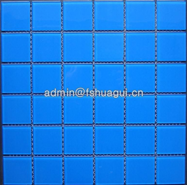 Glass mosaic swimming pool tile Foshan suppliers HG-448002