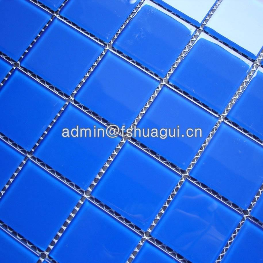 Wholesale Factory Supply Blue Mosaic Swimming Pool Tiles HG-448005