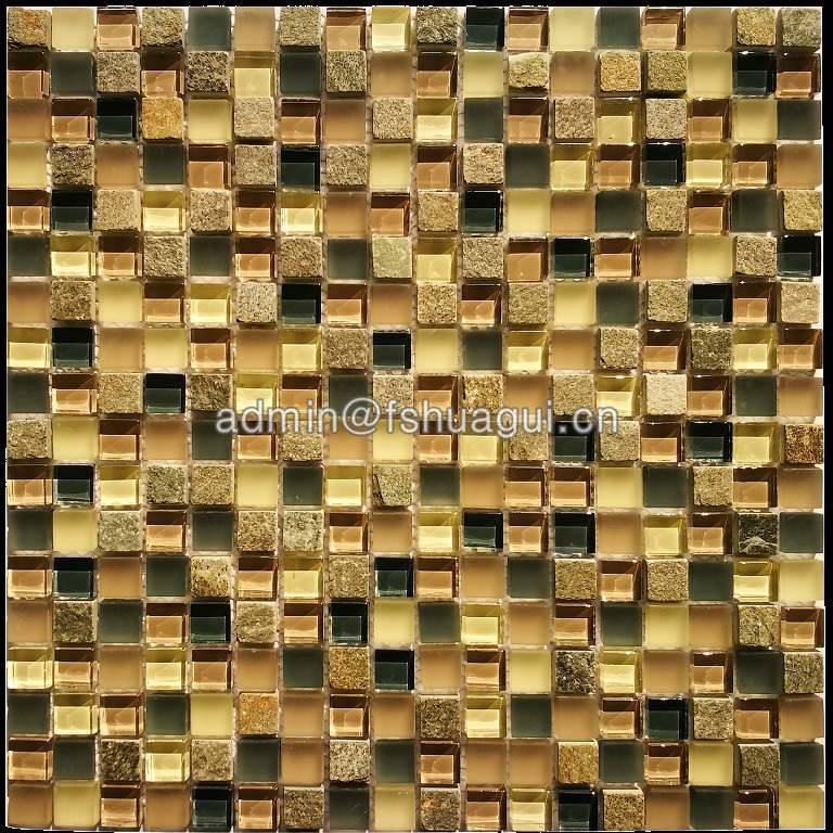 Huagui Glass mosaic tile HG-815209 GLASS MOSAIC TILE image64