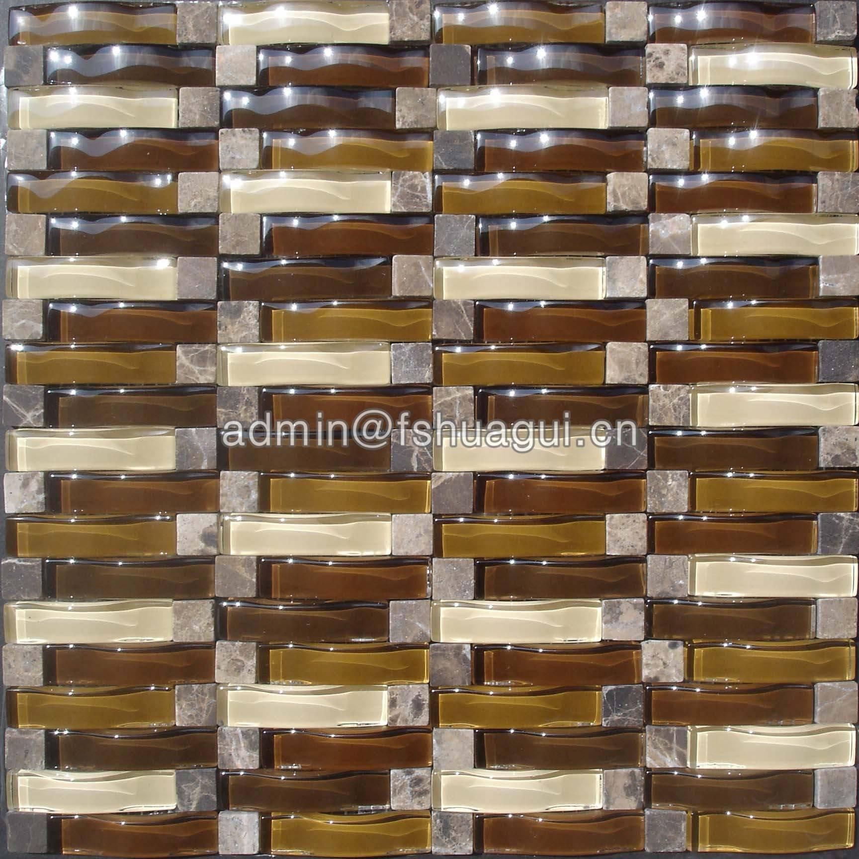 Huagui Glass mosaic tile HG-84006 GLASS MOSAIC TILE image61