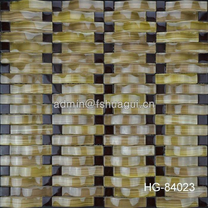 Huagui Decorative Wall Strip Glass Mosaic Tile HG-84023 GLASS MOSAIC TILE image41