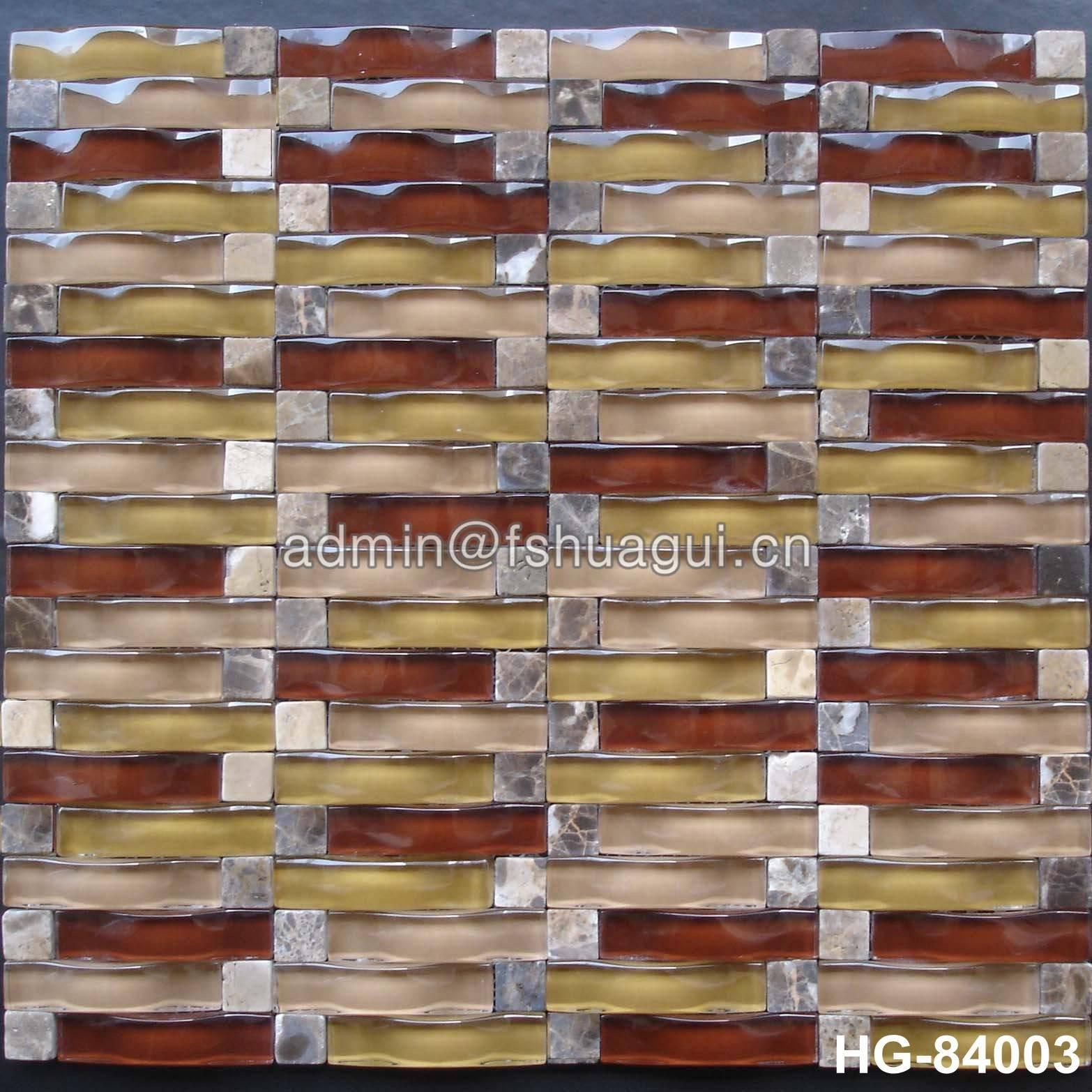 Huagui Glass mosaic tile HG-84003 GLASS MOSAIC TILE image47