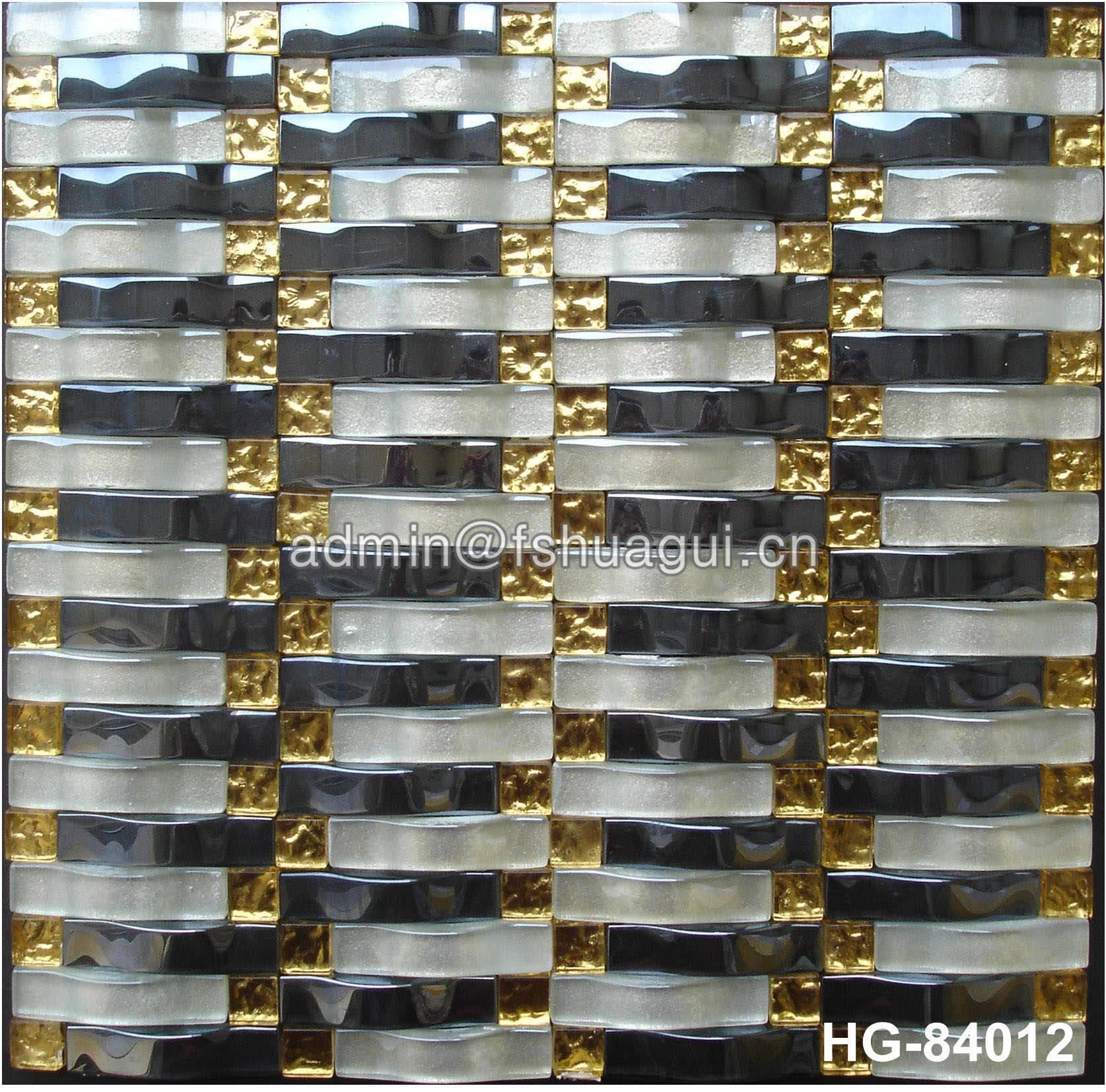 Huagui Glass mosaic tile HG-84012 GLASS MOSAIC TILE image43