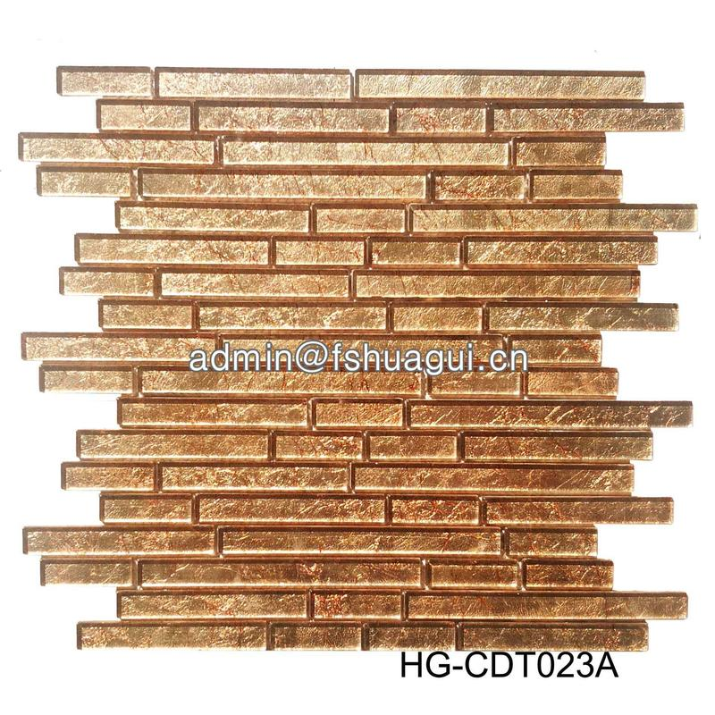 2019 New strip glossy glitter glass mosaic kitchen backsplash tile