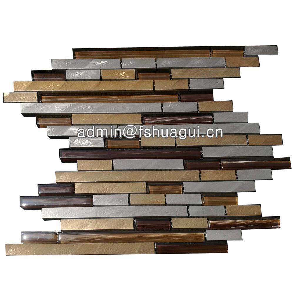 Keystone metal glass mosaic kitchen tile for house