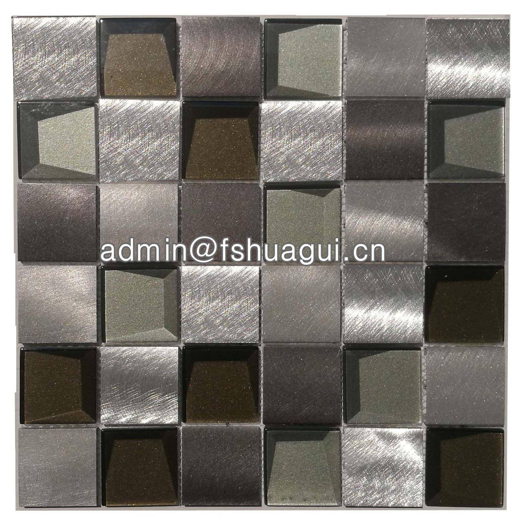 Huagui Cream glass mix mother of pearl shell mosaic bathroom tile  HG-BF004 SHELL MOSAIC TILE image1