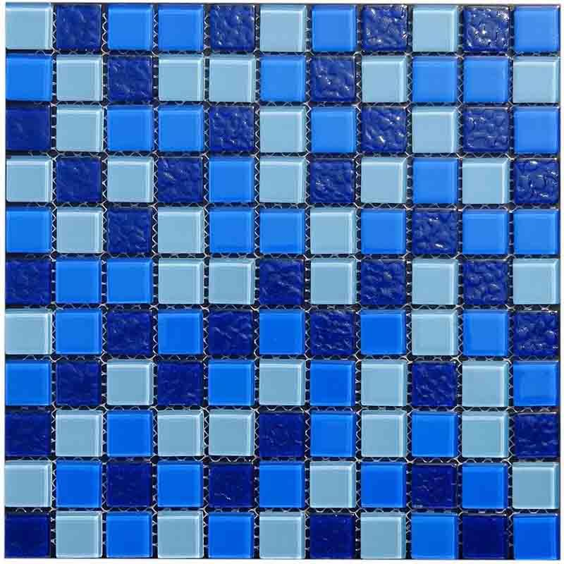Blue Swimming pool glass mosaic tile HG-C425001A
