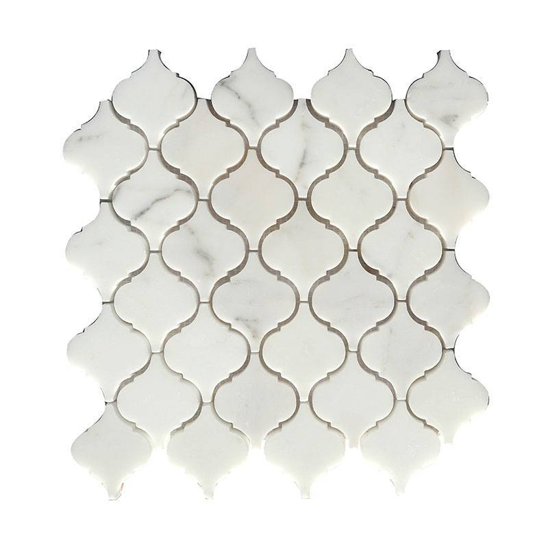 Arabesque polished stone mosaic kitchen tile HG-WJST001