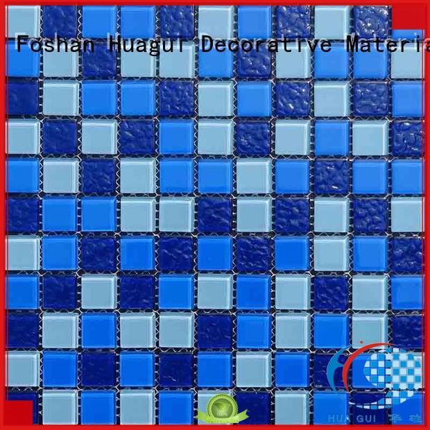 Huagui latest pool tile mosaics wholesale supply for floor