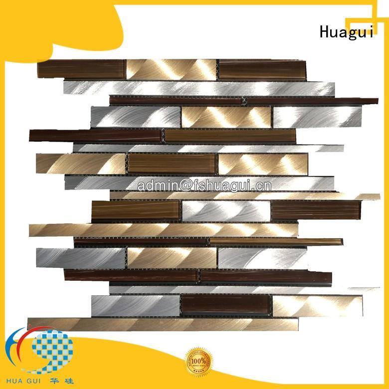 interlocked high quality metallic bathroom tiles popular Huagui company
