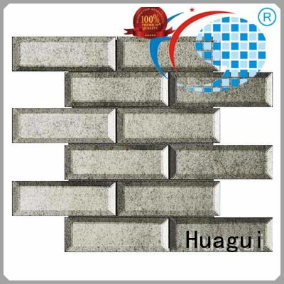 white glass subway tile backsplash white for floor Huagui