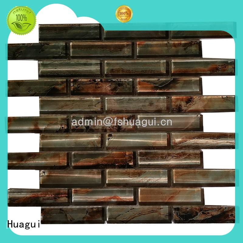 Huagui idiographic glass floor tiles supply for home