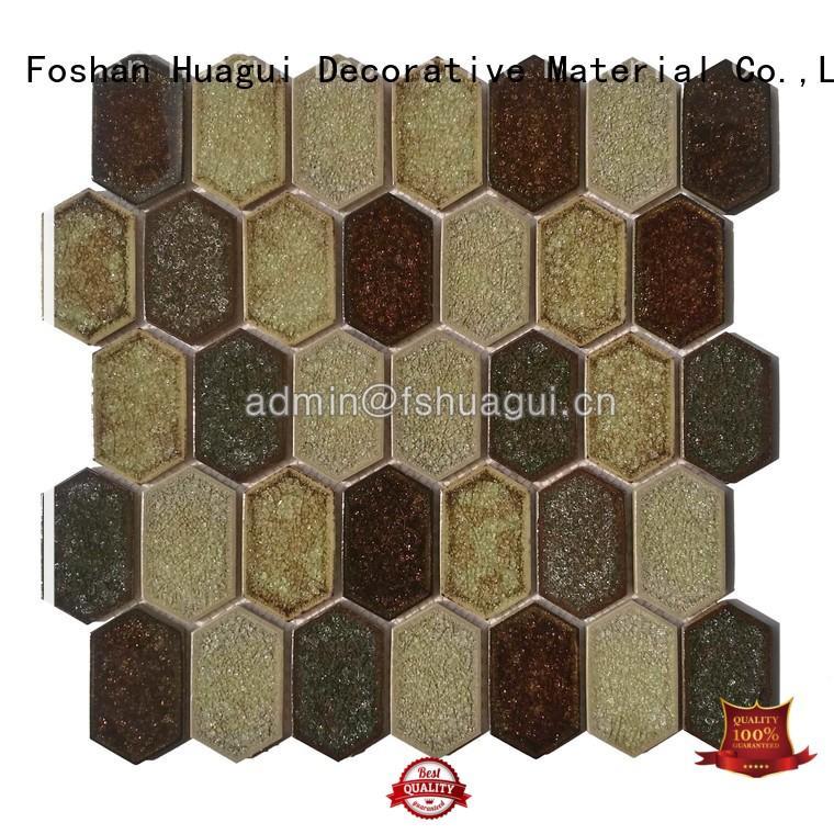 Custom porcelain best hexagon ceramic tile Huagui hot selling