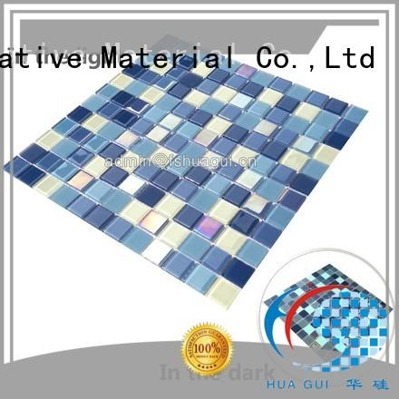 Huagui latest glass mosaic tiles for swimming pool for sale for indoor