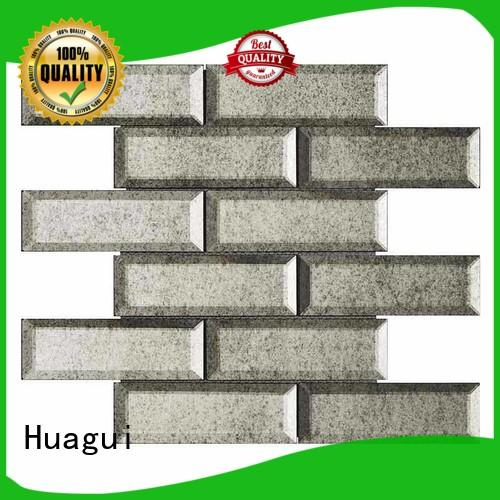 Huagui glossy grey glass subway tile company for outdoor