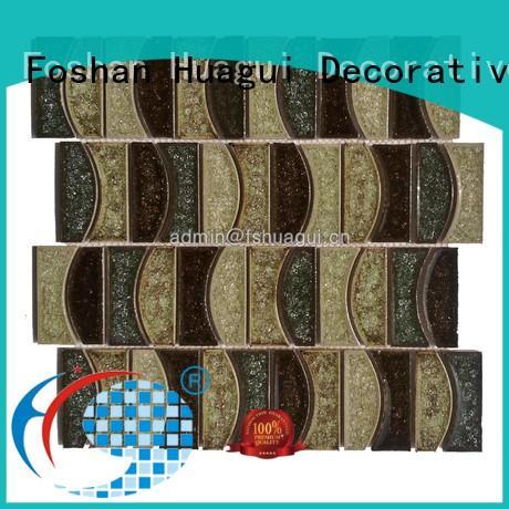 iridescent hexagon ceramic tile hot selling white Huagui company