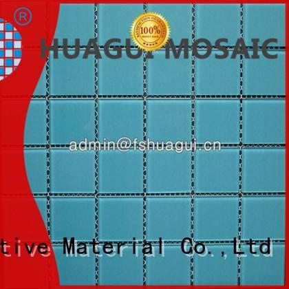 China glass single color mosaic pool tiles HG-448001